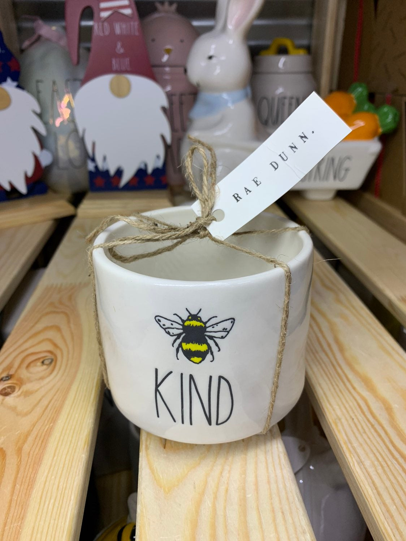 Rae Dunn Bee Kind Planter Pot