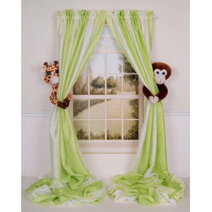 Giraffe & Monkey Curtain Tieback Holders