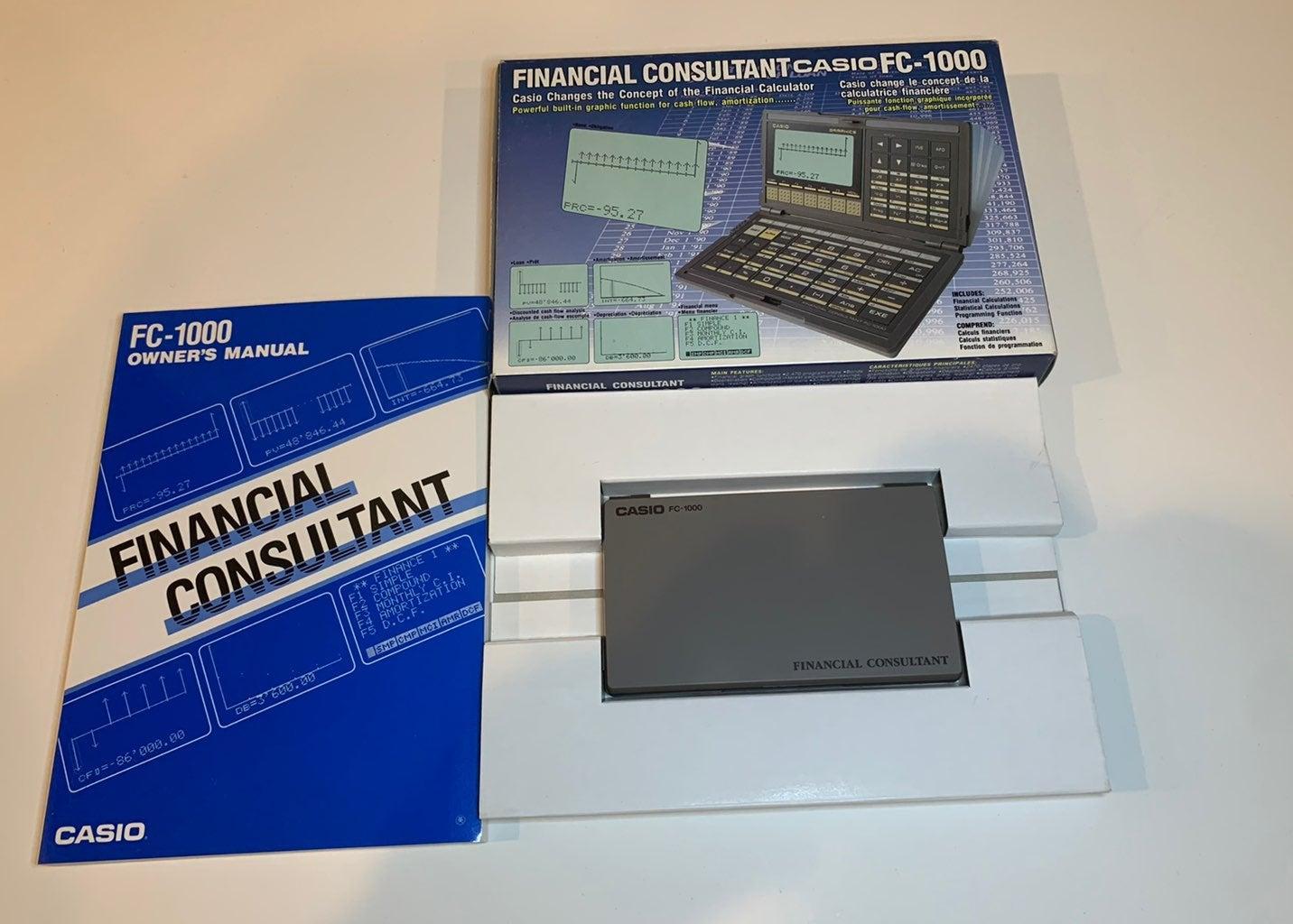Casio FC-1000 Finacial Consultant Calcul