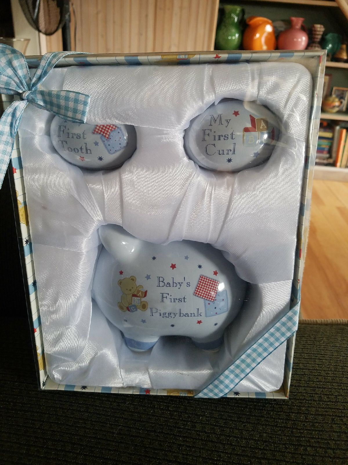 Baby Boy's First Piggy Bank Set