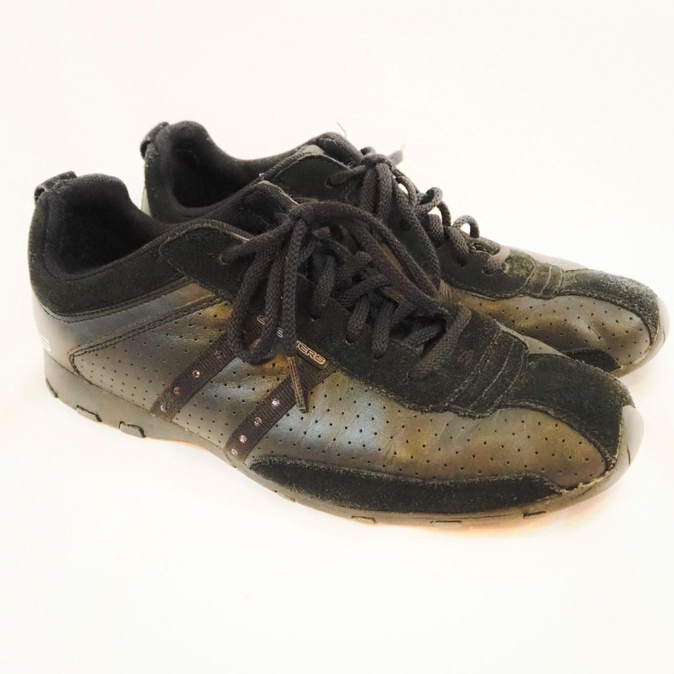 Skechers Black Tennis Shoes Rhinestones