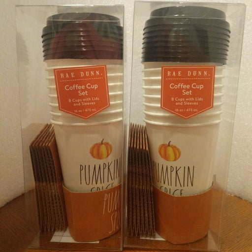 Rae Dunn Pumpkin spice coffee cups
