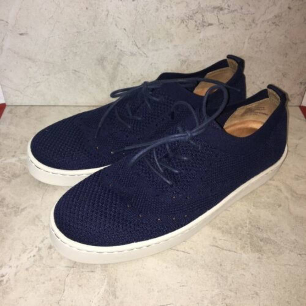 Born Bearse Blue Knit Wingtip Sneakers