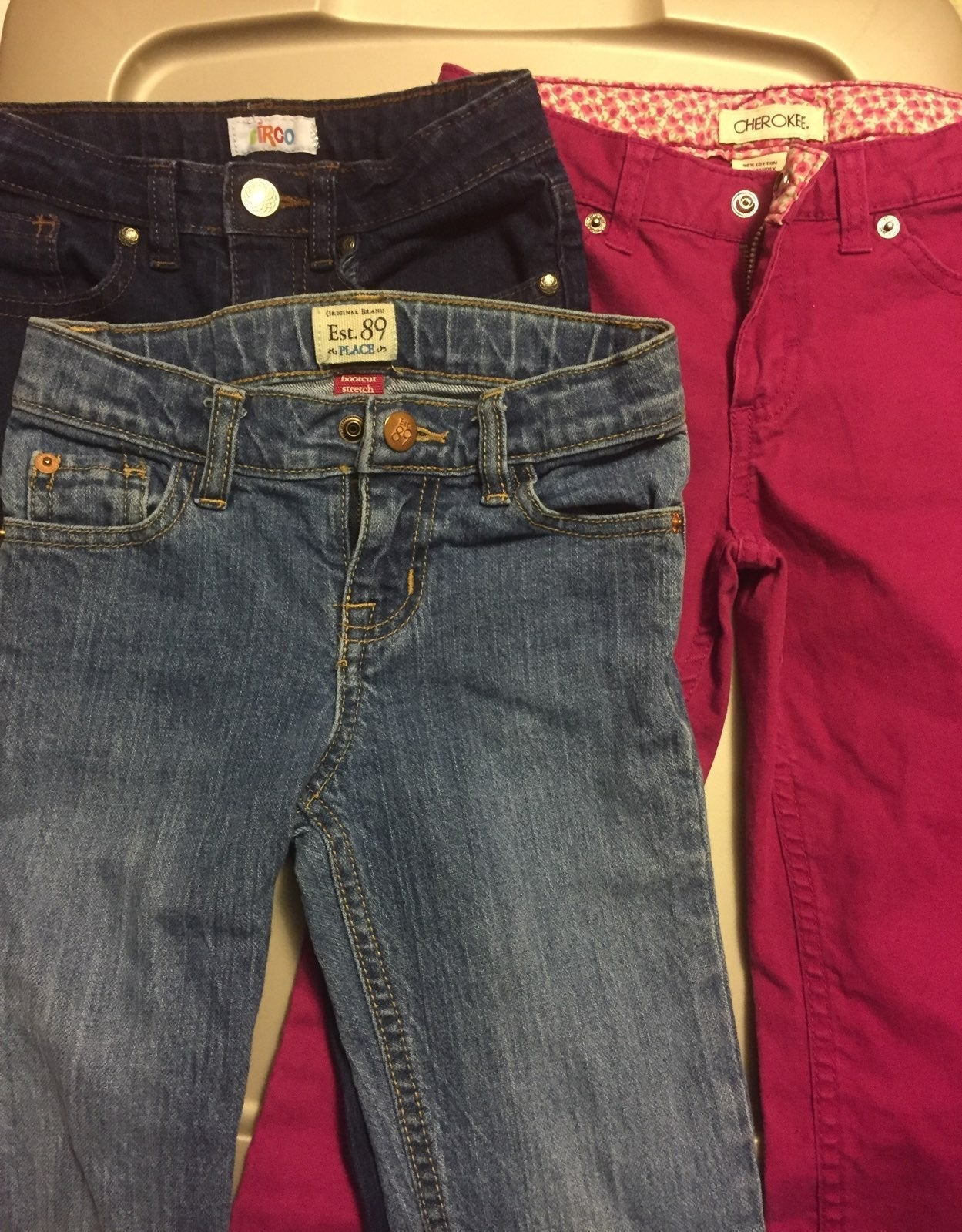 Three pairs Girls size 6 Jeans
