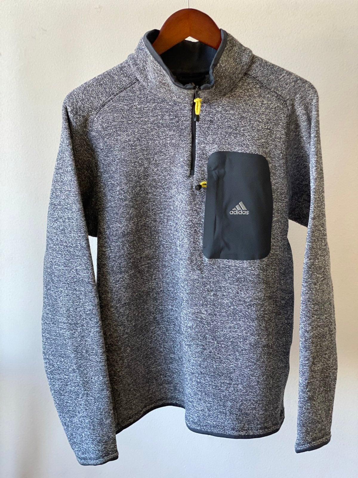 Adidas 3-Stripe Knit Half-Zip Sweater