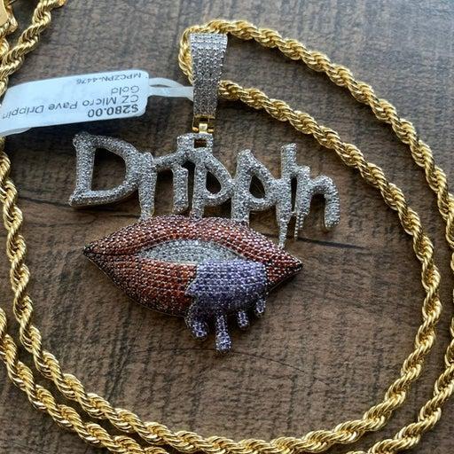 Lab Diamonds Micro Pave DRIPIN Pendant