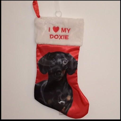 Pet Dog (Doxie) Christmas Stocking