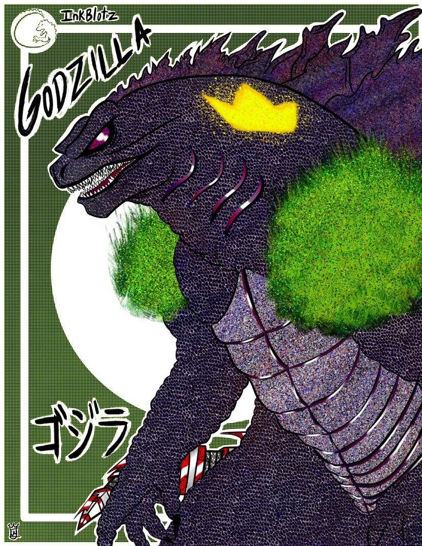 Godzilla 4x6 inch poster print