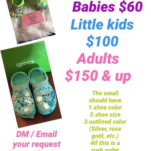 Customized crocs for little kids