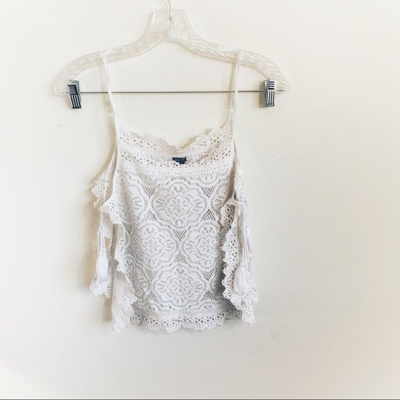 Aerie Crochet Beach Cover Up Tank