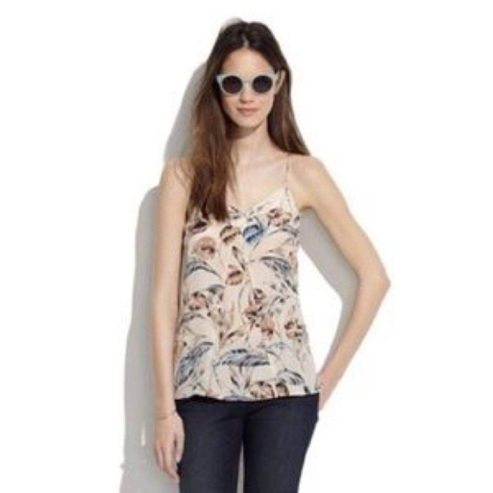 MADEWELL | Silk Camisole in Palm Top A21
