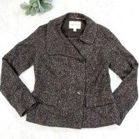 2a958c770bdf Size 6 Brown Tweed Wool Blend Pea Coat. Banana Republic