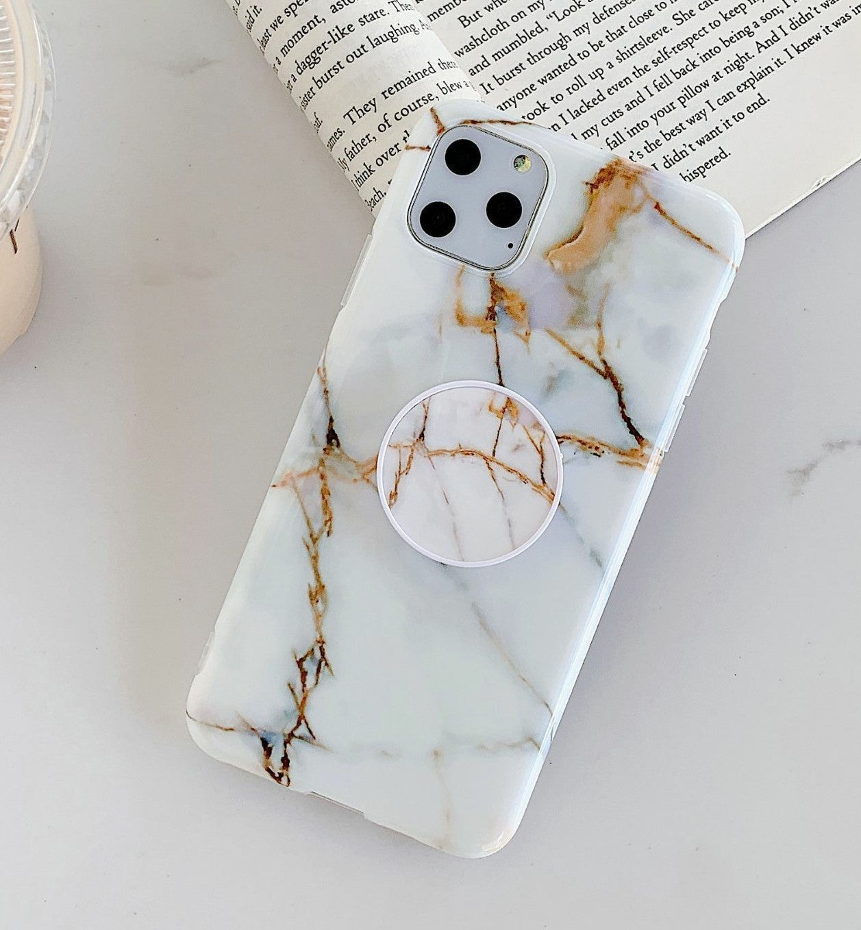 iPhone 12 Case Marble & Holder