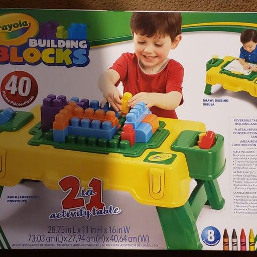 Crayola Building Blocks Activity Table