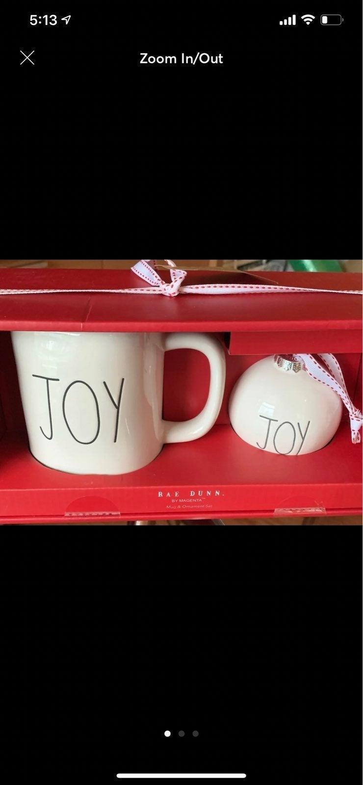 Rae Dunn mug and christmas Tree ornament