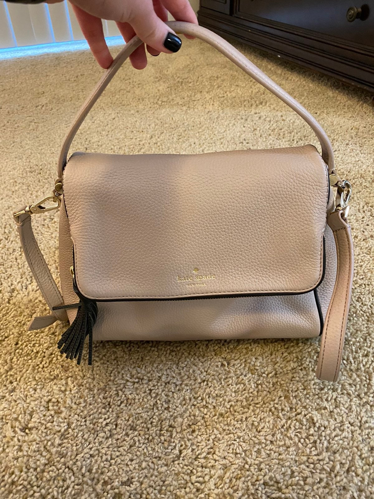 Kate Spade blush & black purse