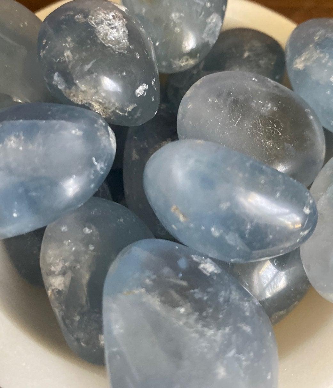 Celestite Tumbled Stone - Higher Realms