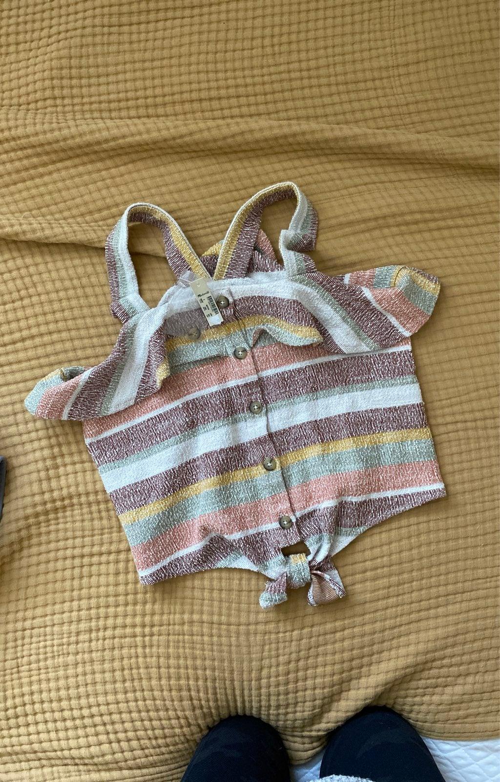 Top tank blouse rivet & thread madewell