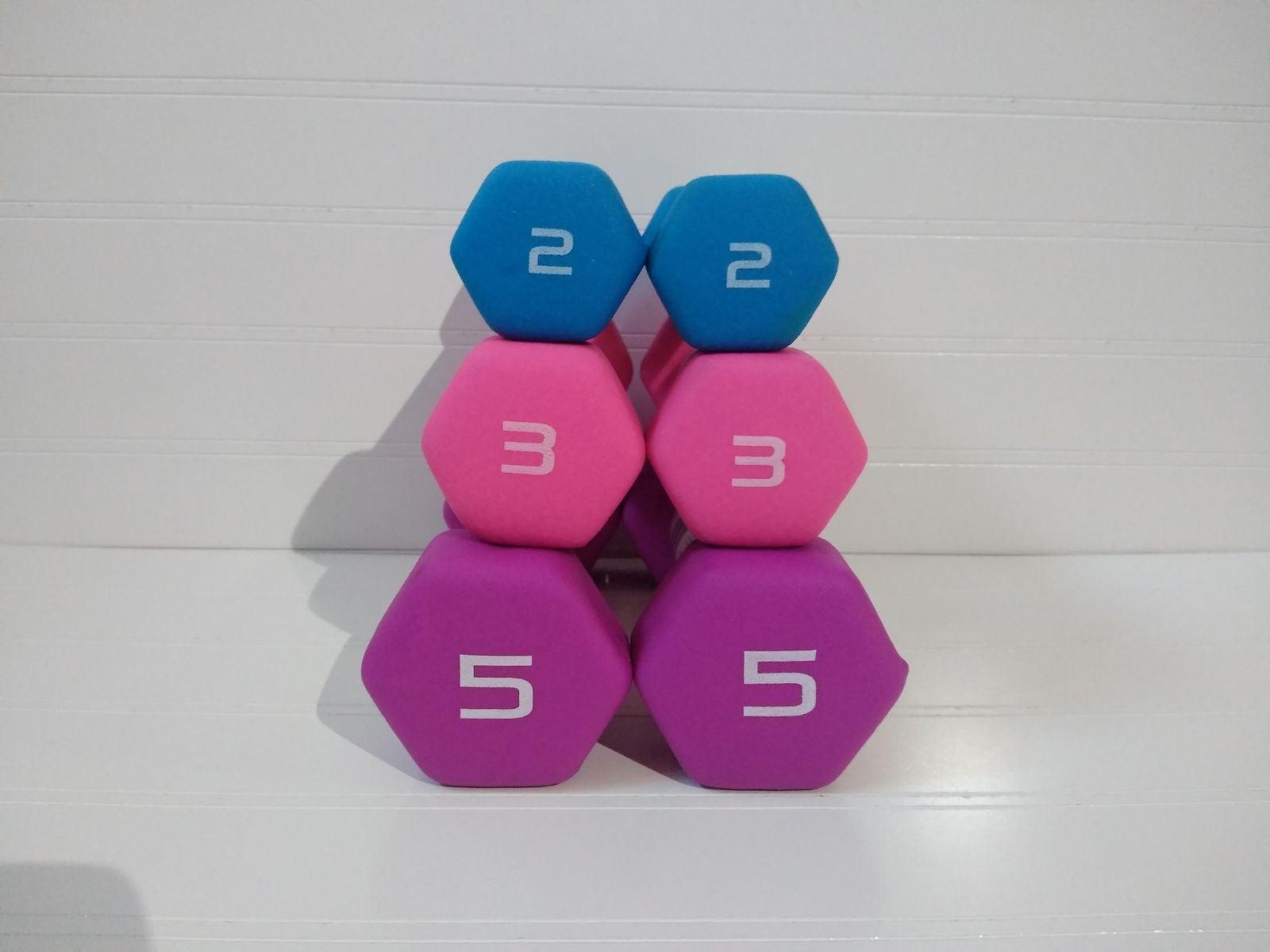 Cap 2 lb, 3 lb, & 5 lb Dumbbells/Weights