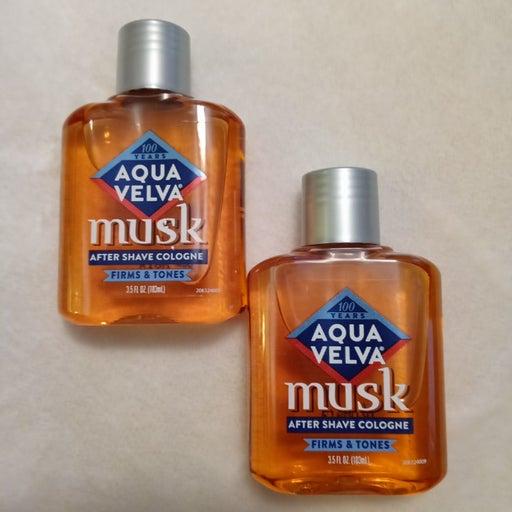 2 Aqua Velva Musk After shave cologne