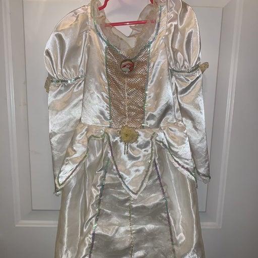 4-6X Ariel Little Mermaid Wedding Dress