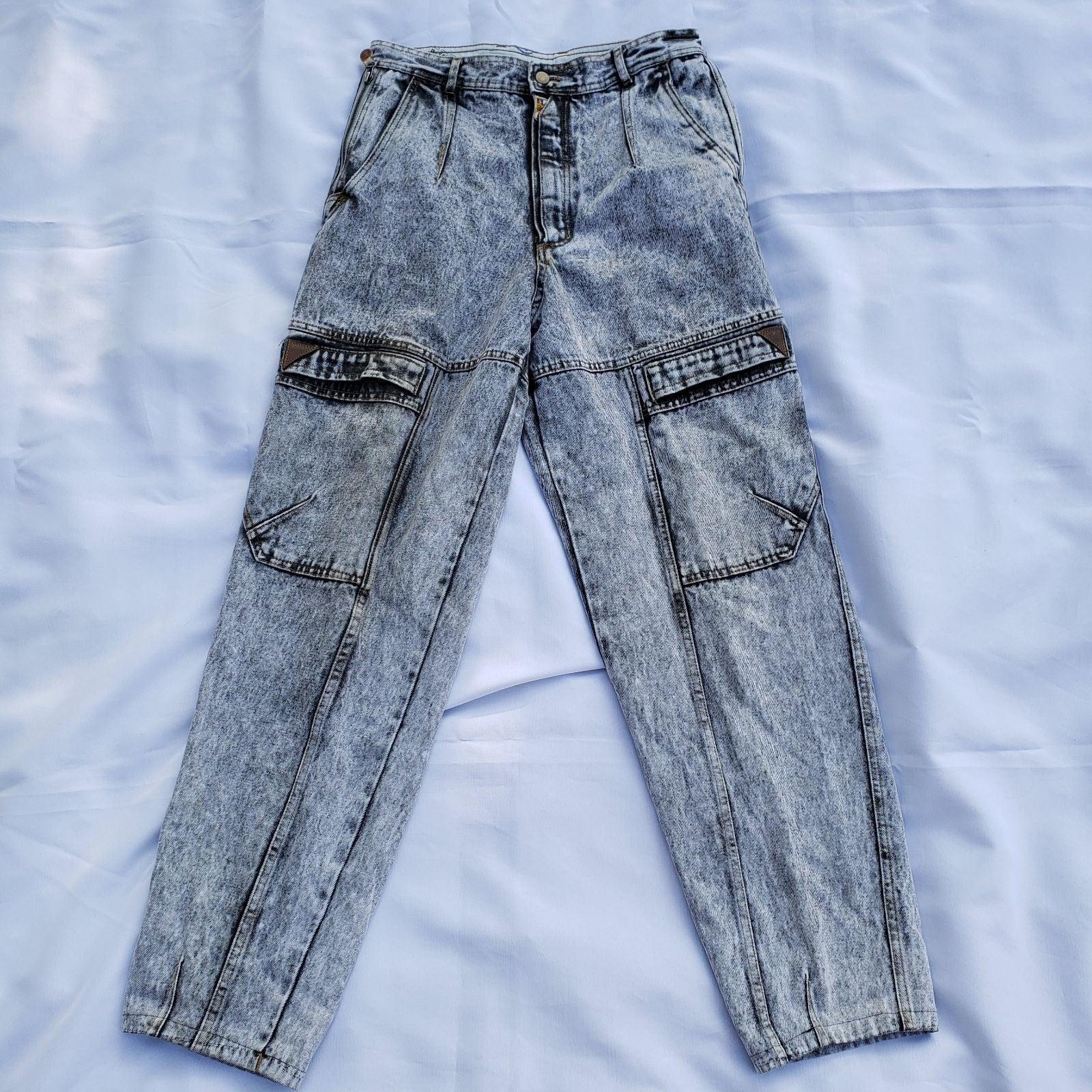 Bugle Boy Jeans Naval Issue Acid Wash