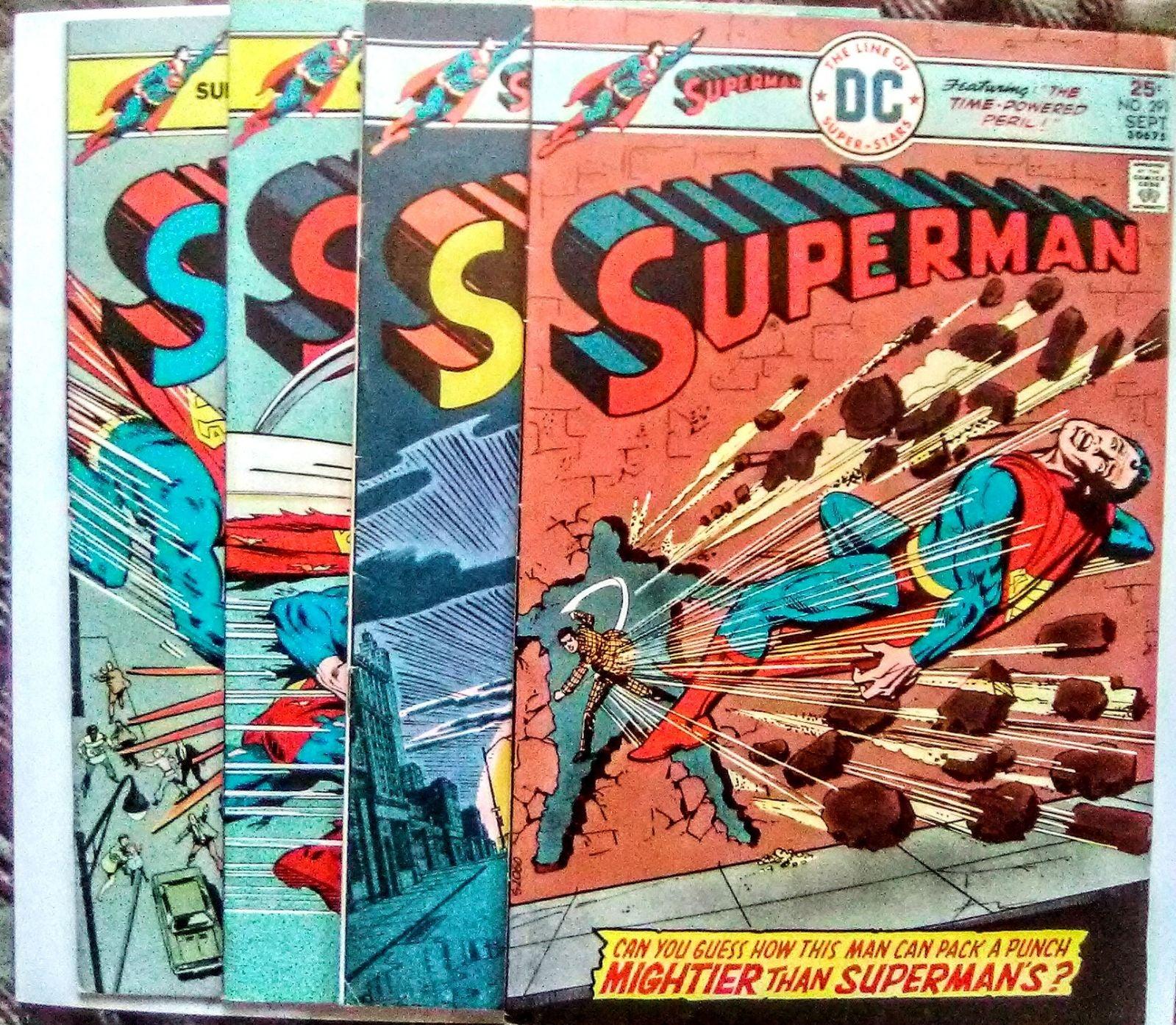 Vintage lot of 4 Superman comic books