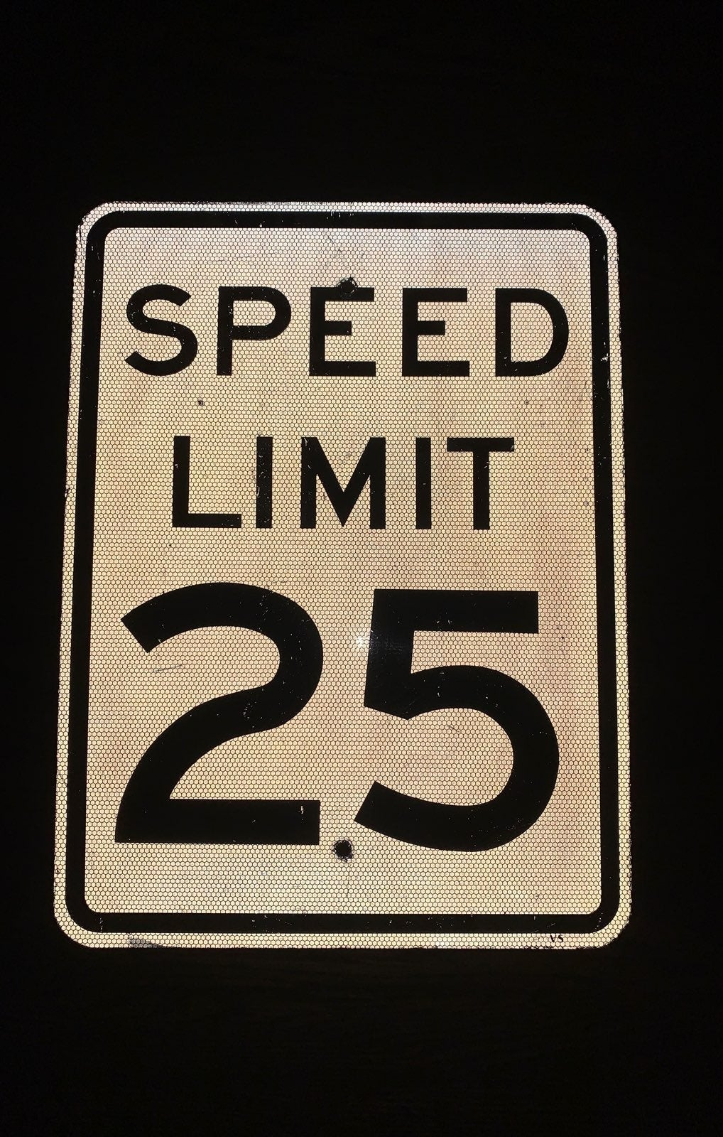 Authentic Speed limit sign from the 90's