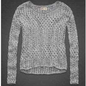 Hollister Open Knit Cotton Beach Sweater