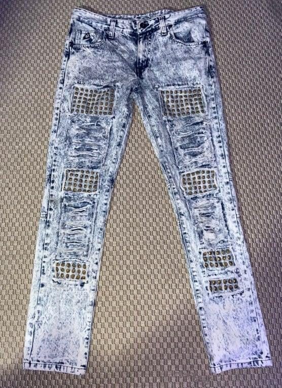 DNM Mens biker jeans