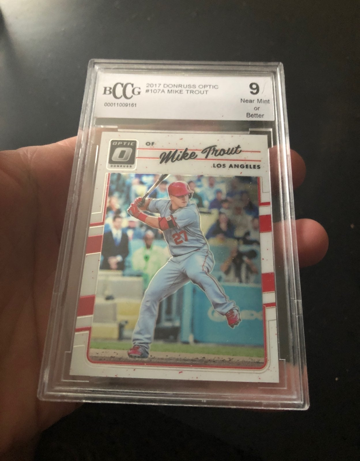 Mike Trout Optic Graded 9 Angels