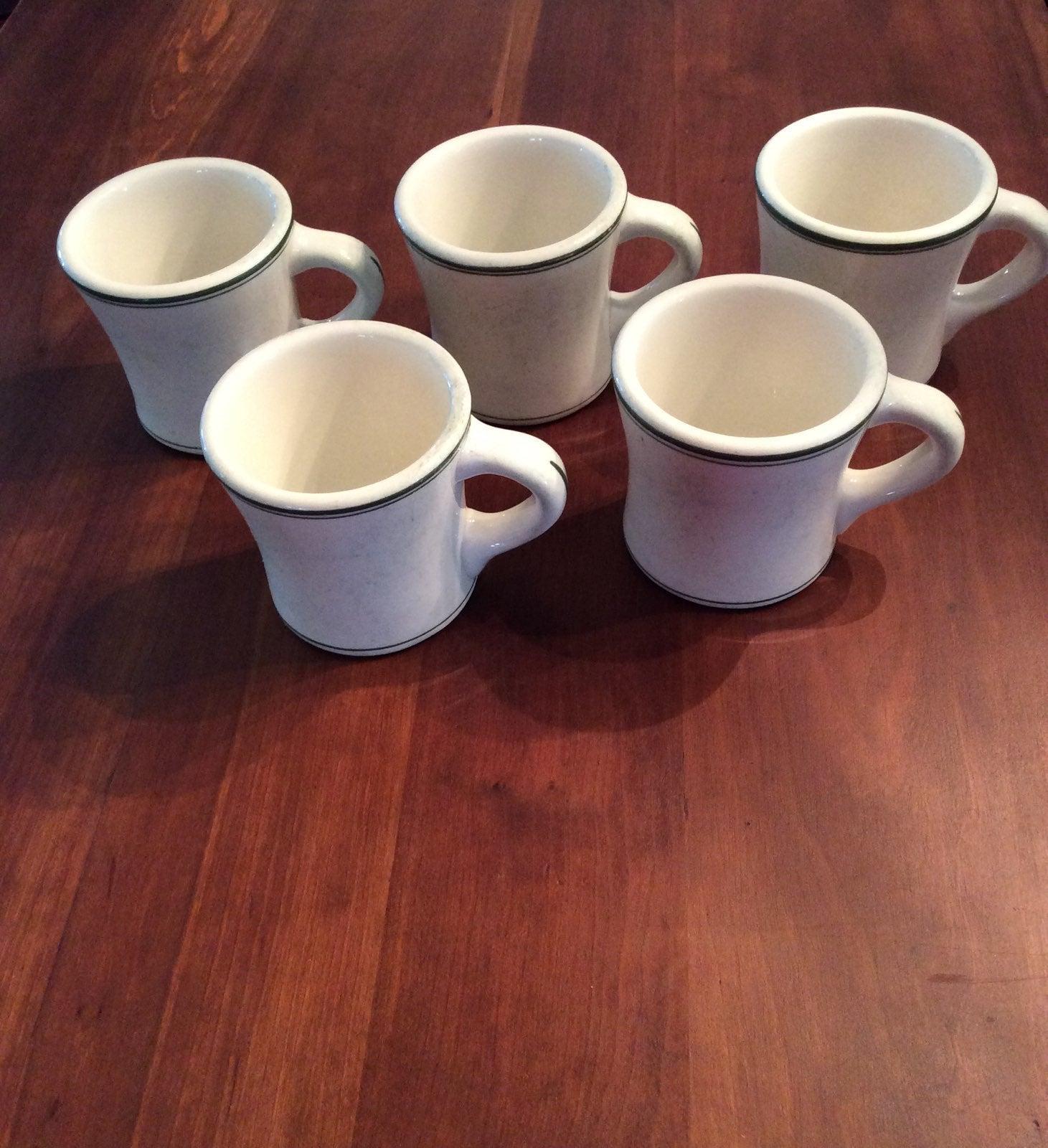 5 Vintage Coffee Mugs Warwick 1938 Made