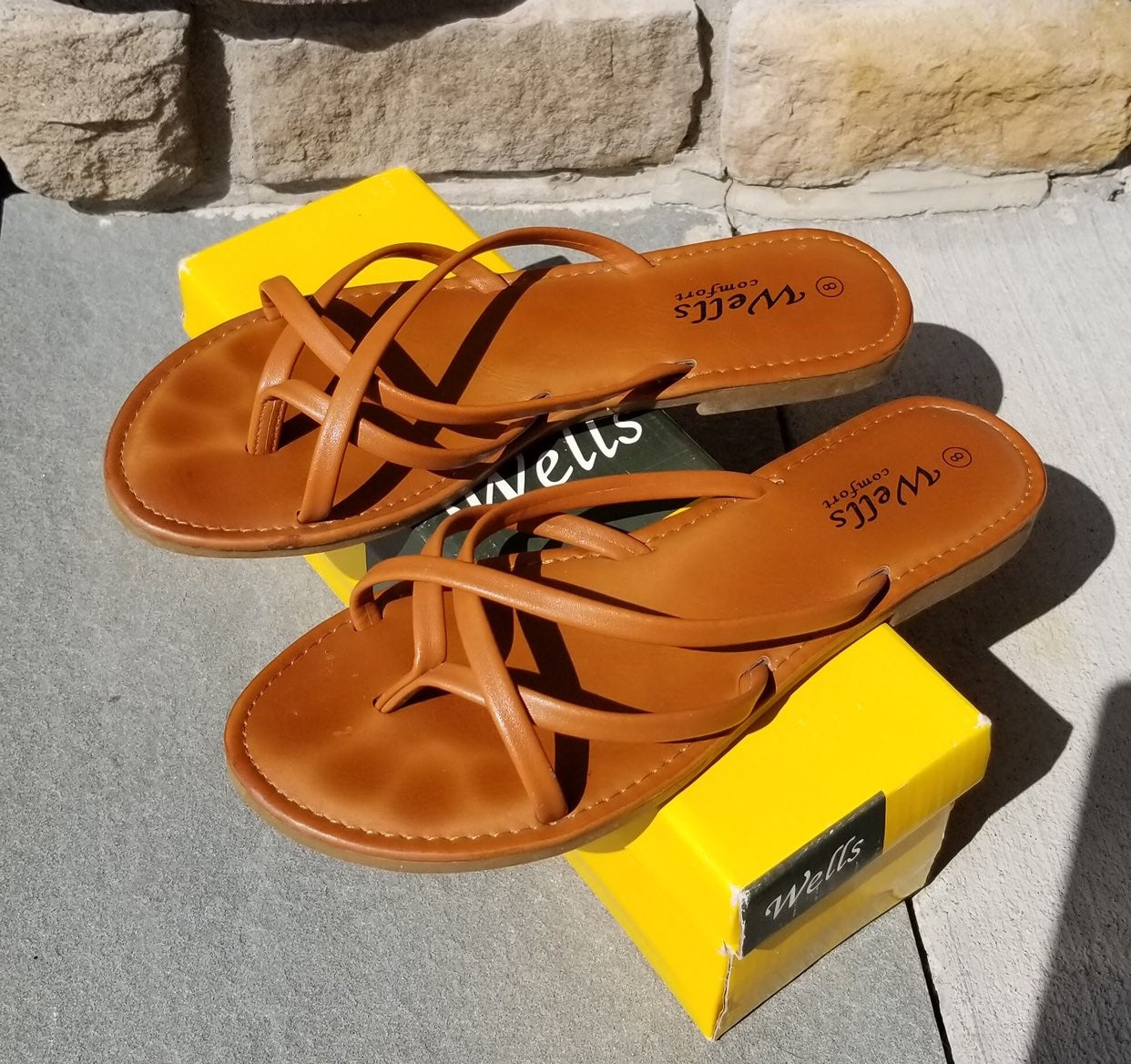 WORN ONCE- Brown Slip-On Sandals