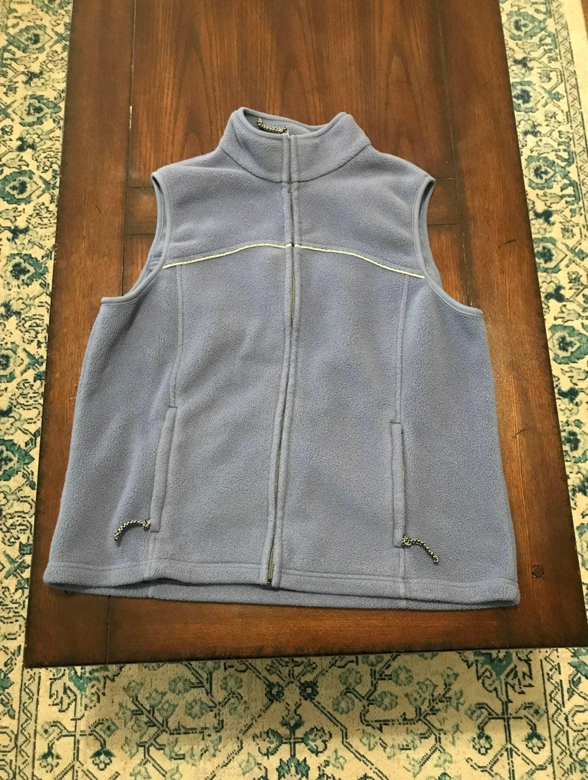 Eddie Bauer Fleece Vest Blue sz L