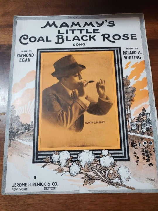 Mammy's Little...Rose Vintage Sheet Musi