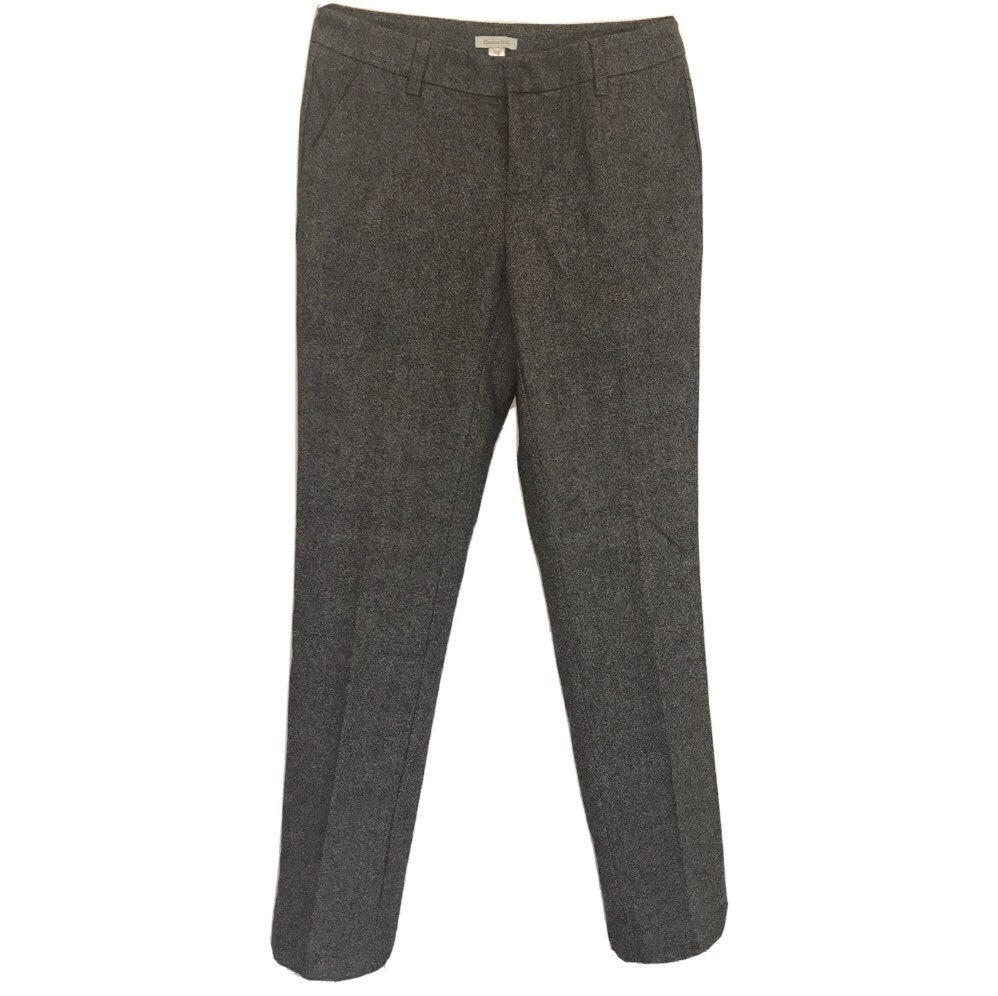 Garnet Hill Dress Pants Gray Wool Lined