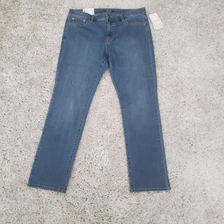 LRL Med Wash Curvy Jeans 12P
