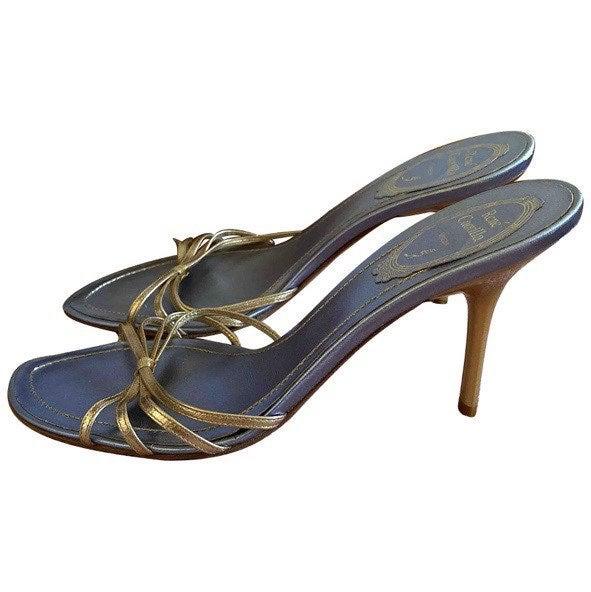 luxury gold sandals