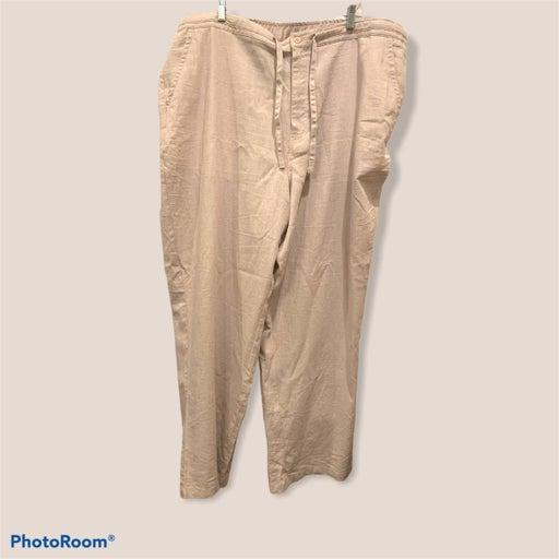 Cubavera linen blend drawstring pants 3X