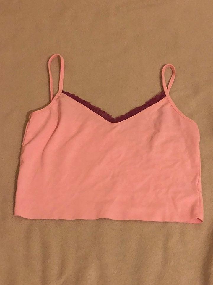Pink lace cami Tank Top