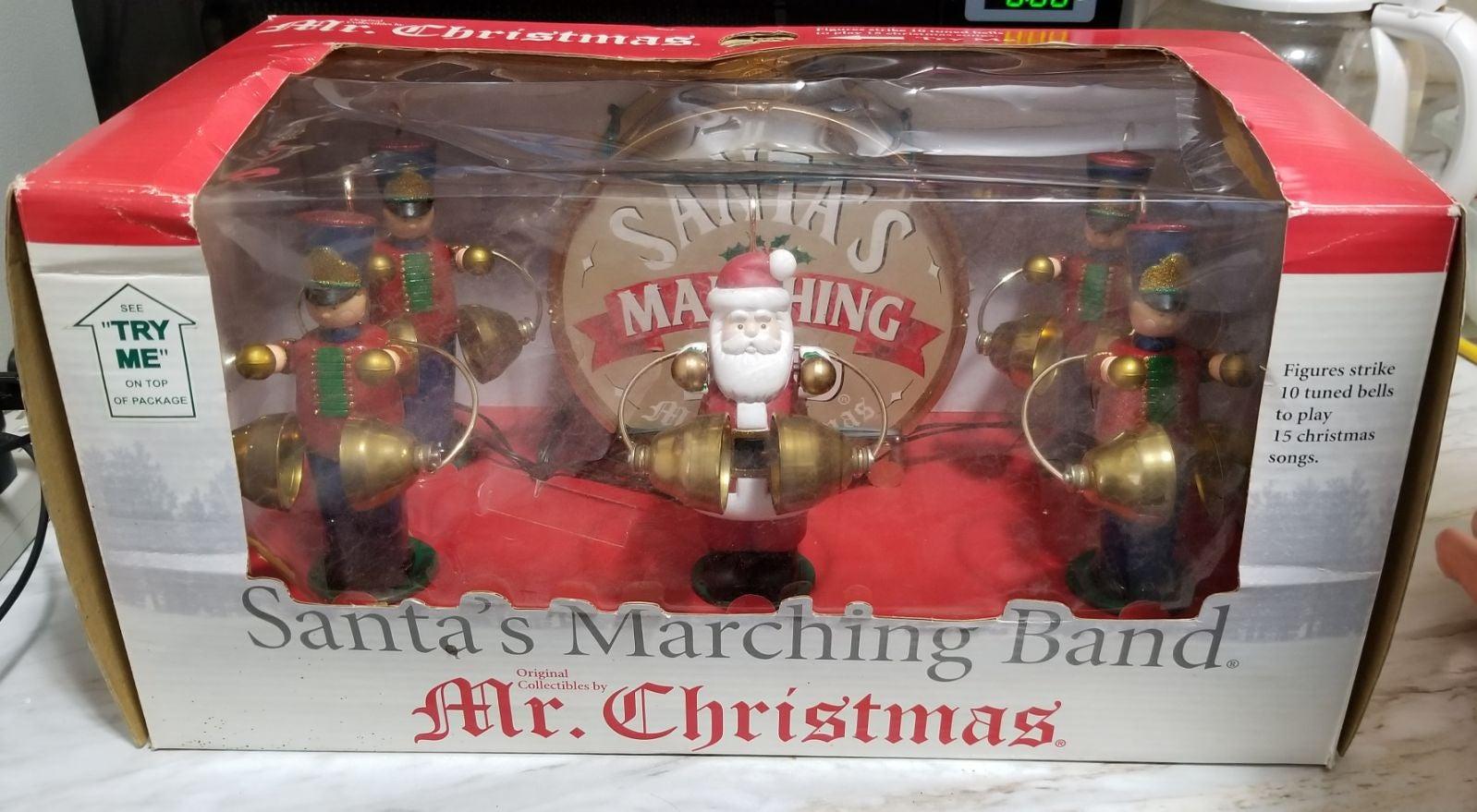 Vintag Mr Christmas Santa Marching Band