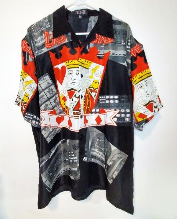 Ferugini Las Vegas Print Men's Shirt 2XL