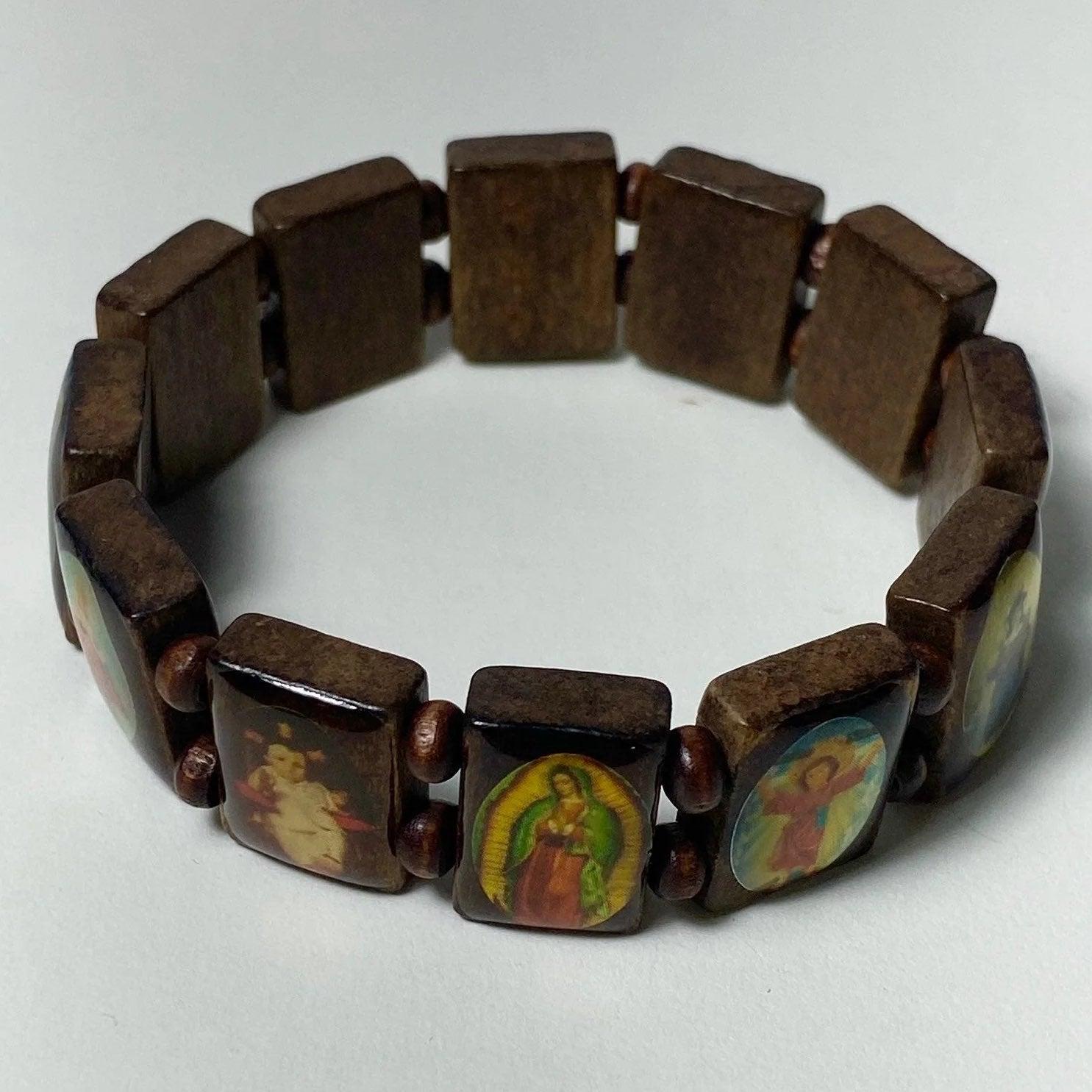 All Saints Wooden stretch Bracelet