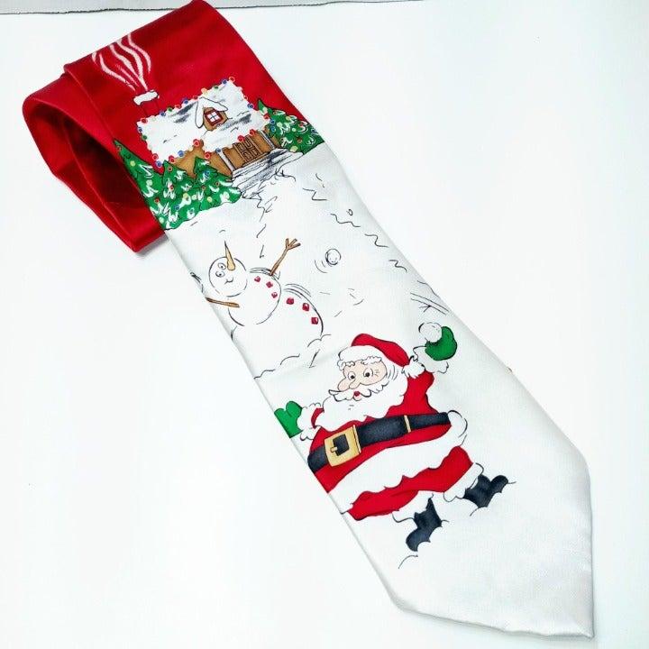 Roundtree & Yorke Holiday Santa Tie