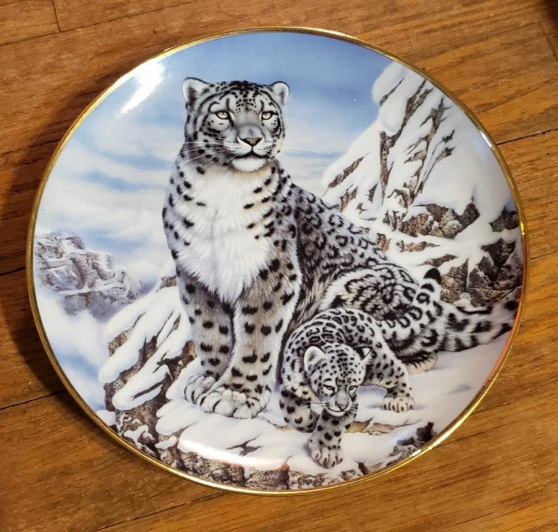 Franklin Mint Big Cat and Rabbit Plates