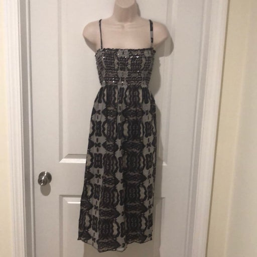 Brown/Grey Midi Dress Sz XL DKNYC
