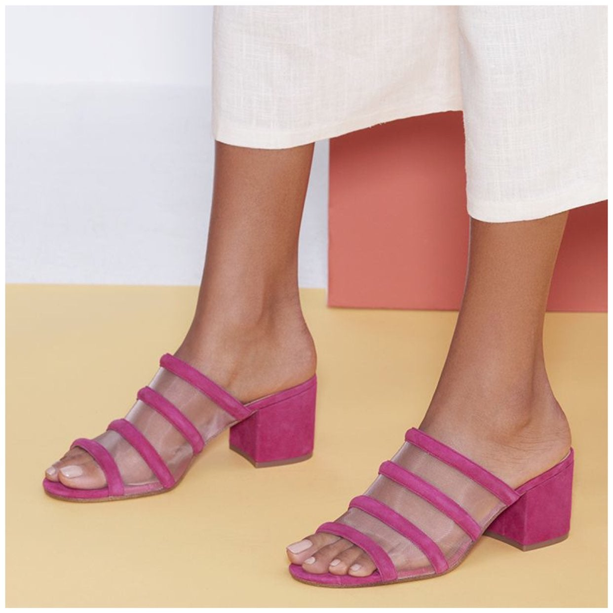 SOLE SOCIETY Henna Mules Sandals Heels