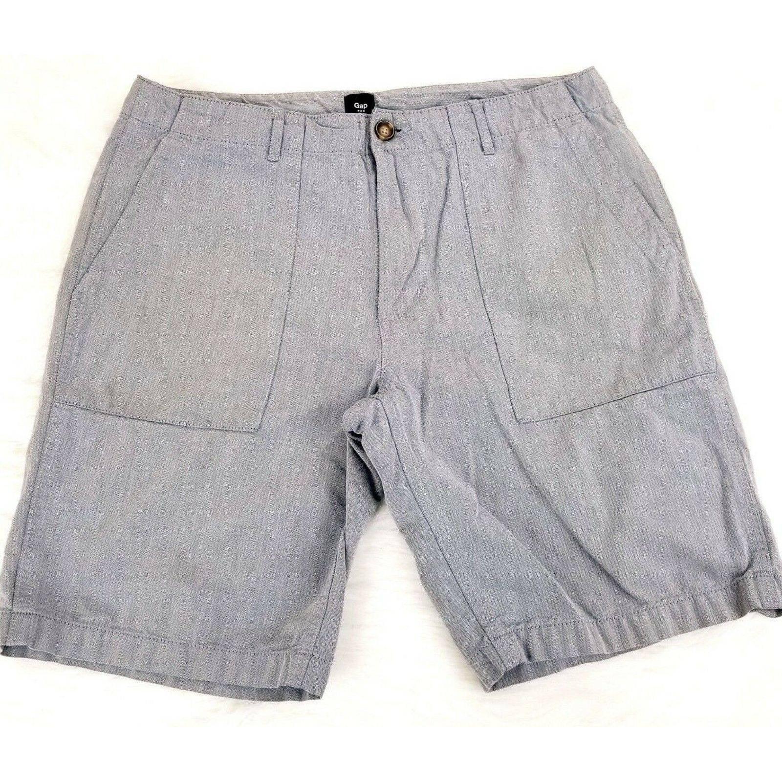 Gap Mens Shorts Herringbone Chino