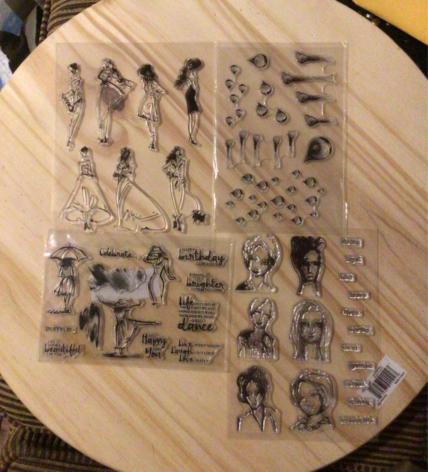 4 sets of Clear Stamp