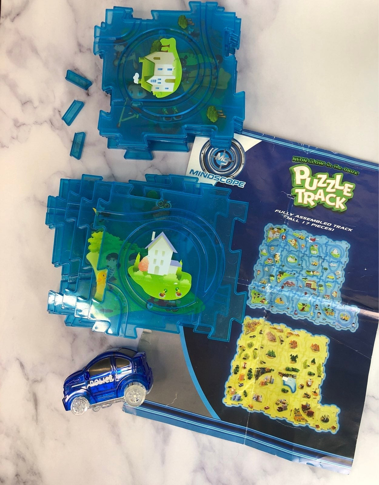 Puzzle track glow in the dark tested